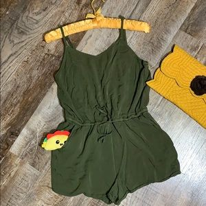 Military Green | Petite Summer Romper
